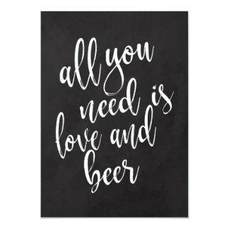 Liebe und Bier erschwingliches chalkoard Karte