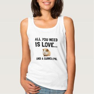 Liebe und ein Meerschweinchen Tanktop