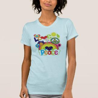 Liebe und Friedensbaby T-Shirt