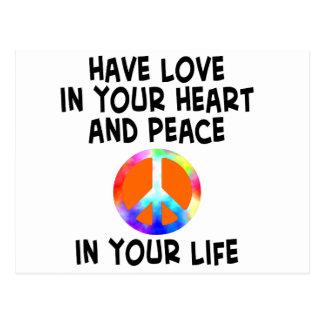 Liebe- und Friedenskarte Postkarte