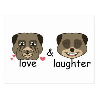 Liebe- und Gelächterausdruck Postkarte