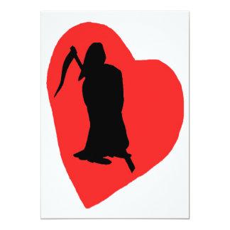 Liebe und Hass, Leben und Tod (2) 12,7 X 17,8 Cm Einladungskarte
