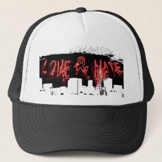 Liebe-und Hass-Stadt-Kappe Truckerkappe