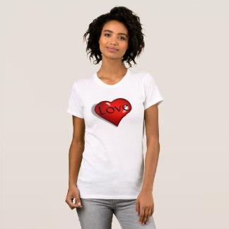 Liebe und Herz-Dame T-Shirt