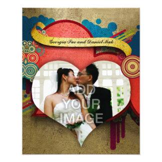 Liebe-und Herz-Rahmen-Foto-Erweiterung Kunst Foto