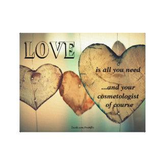 Liebe und Ihr Cosmetologist Leinwanddruck