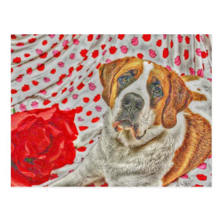 Liebe und Kuss-Postkarte Postkarte