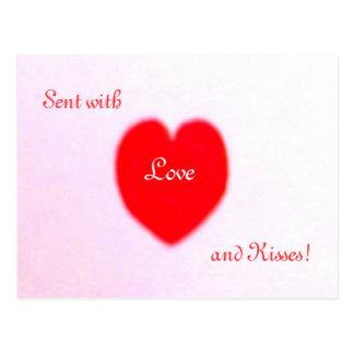 Liebe und Küsse!  Postkarte