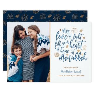Liebe-und Licht-Chanukka-Foto-Karte 12,7 X 17,8 Cm Einladungskarte