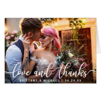 Liebe und moderne Hochzeit des Dank-| danken Ihnen Karte