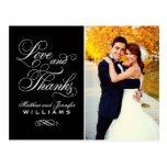 Liebe und schwarze Hochzeit des Dank-| danken Postkarten