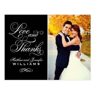 Liebe und schwarze Hochzeit des Dank-| danken Postkarte