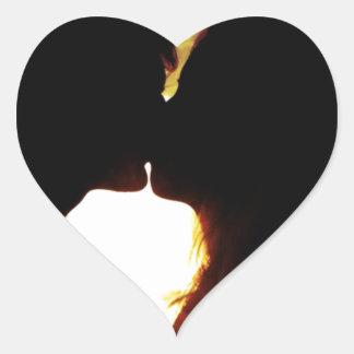 Liebe und Sommer Herz-Aufkleber