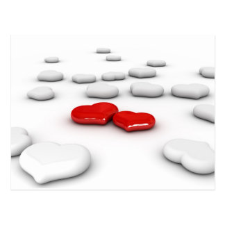 Liebe und viele Herzen Postkarten