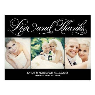 Liebe und Wedding Postkarte des Dank- danken