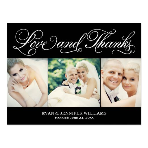 Liebe und Wedding Postkarte des Dank-| danken Ihne