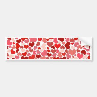 Liebe, Valentine, Tag, Herz, Frauen, Rosa, Rose Autoaufkleber