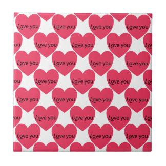 Liebe, Valentine, Tag, Herz, Frauen, Rosa, Rose Keramikfliese