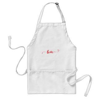 Liebe-Valentinsgruß-Wirbel Schürze
