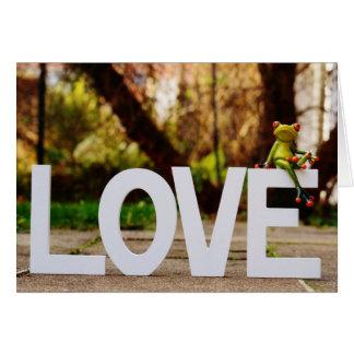 Liebe-Valentinstag-Karte Grußkarte