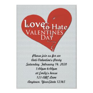 Liebe, Valentinstag-Party Einladung zu hassen