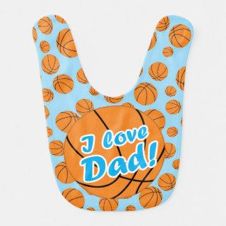 Liebe-Vati-Basketball-Schellfisch des Blau-I Lätzchen