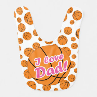 Liebe-Vati-Basketball-Schellfisch des Rosa-I Lätzchen