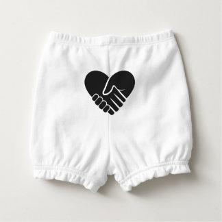 Liebe verbundenes schwarzes Herz Baby-Windelhöschen