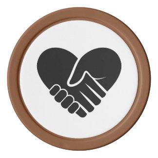 Liebe verbundenes schwarzes Herz Poker Chip Set