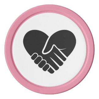 Liebe verbundenes schwarzes Herz Poker Chips