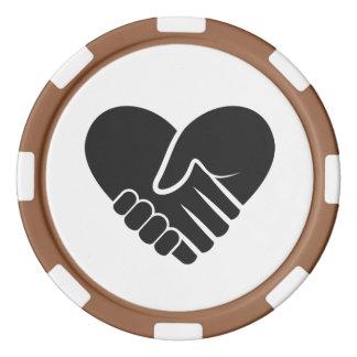 Liebe verbundenes schwarzes Herz Poker Chips Set