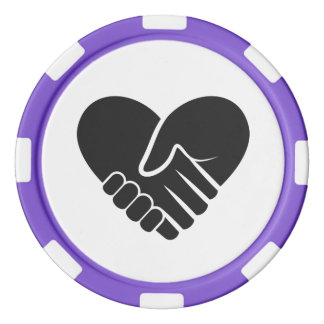 Liebe verbundenes schwarzes Herz Pokerchips