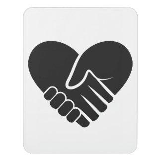Liebe verbundenes schwarzes Herz Türschild