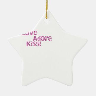Liebe verehren Kuss Keramik Ornament