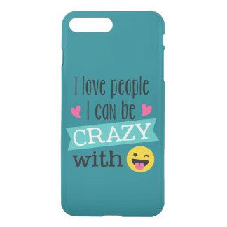 Liebe-verrückte Leute Emoji iPhone 8 Plus/7 Plus Hülle