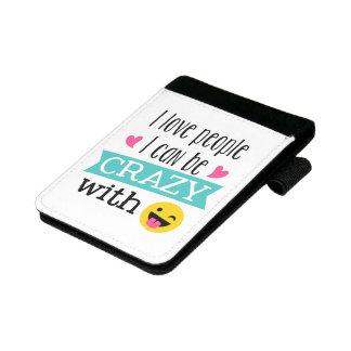 Liebe-verrückte Leute Mini Padfolio