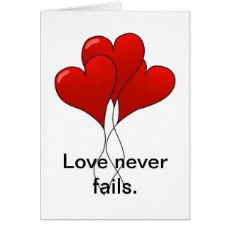 Liebe versagt nie Karte