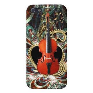 Liebe-Violine ~ Stylized antike Violine und iPhone 5 Schutzhülle