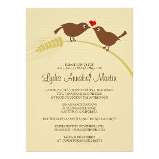 Liebe-Vögel 6 5 x 8 75 Brautparty-Einladung