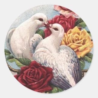 Liebe-Vögel - Aufkleber