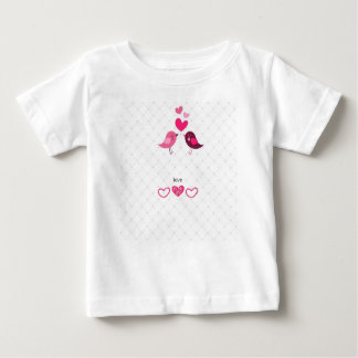 Liebe-Vögel Baby T-shirt