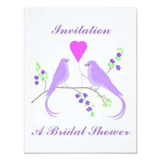Liebe-Vogel-Brautparty-Einladungen 10,8 X 14 Cm Einladungskarte