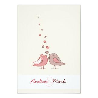 Liebe-Vögel, die Einladung Wedding sind