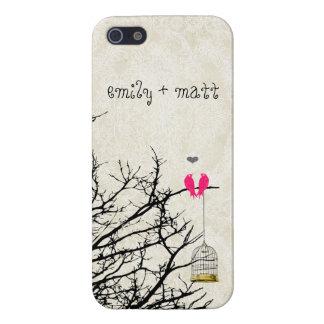 Liebe-Vögel, die in einer Baum iPhone 5C Abdeckung Etui Fürs iPhone 5