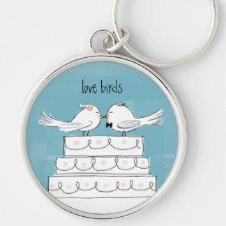 Liebe-Vogel-Hochzeits-Kuchen-Kuss Schlüsselbänder
