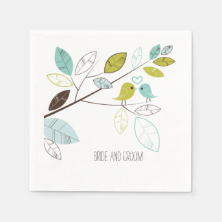 Liebe-Vögel Papierservietten