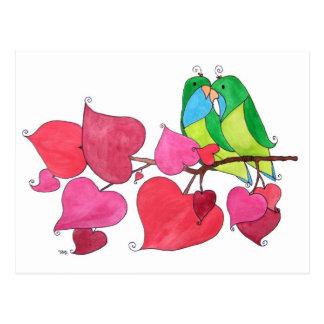 Liebe-Vögel Postkarten