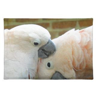 Liebe-Vögel Stofftischset