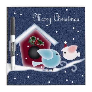 Liebe-Vögel unsere erste Weihnachtslangstrecke Trockenlöschtafel