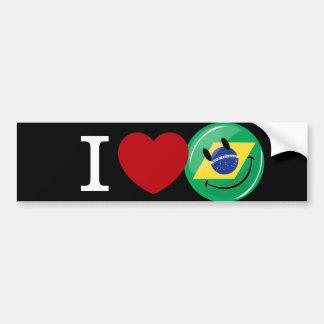 Liebe von lächelndem Gesicht Brasiliens Autoaufkleber